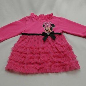 Disney Minnie Mouse Pink Dress Girls 0-3m